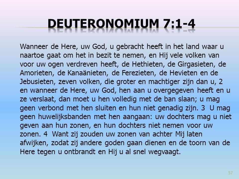 Deuteronomium 7:1-4