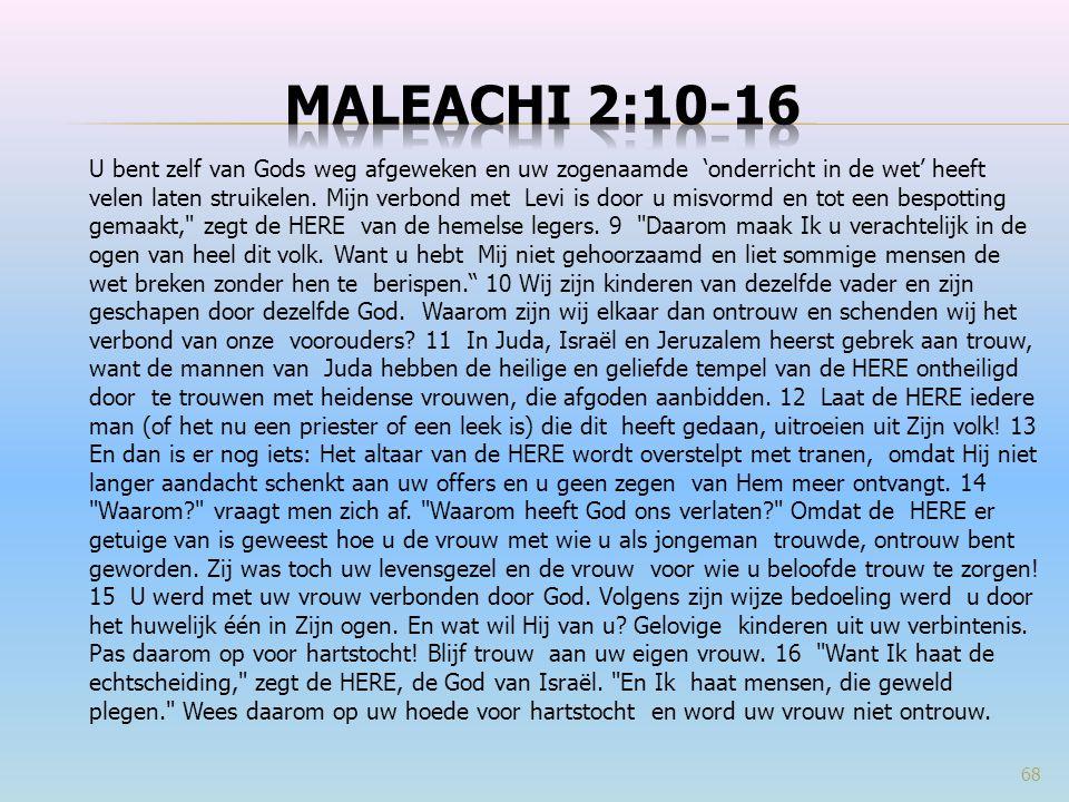 Maleachi 2:10-16