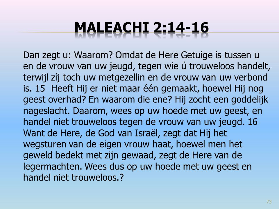 Maleachi 2:14-16