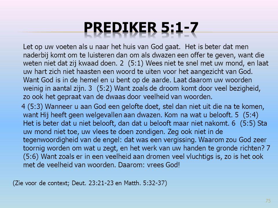 Prediker 5:1-7