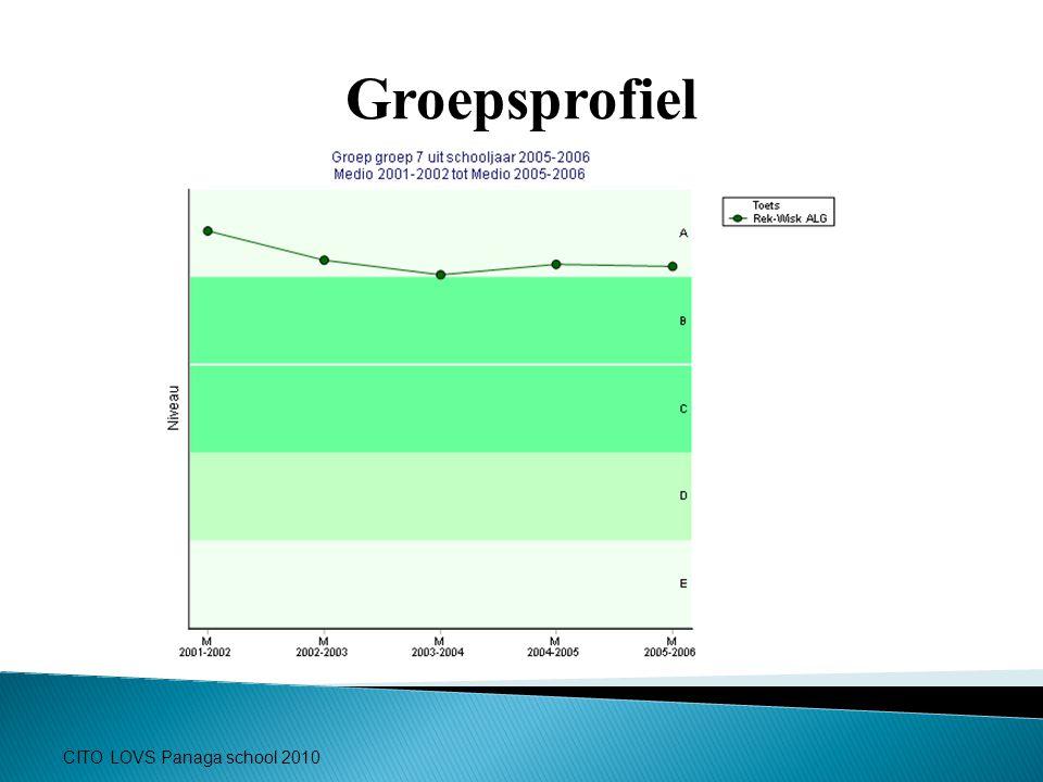 Groepsprofiel CITO LOVS Panaga school 2010