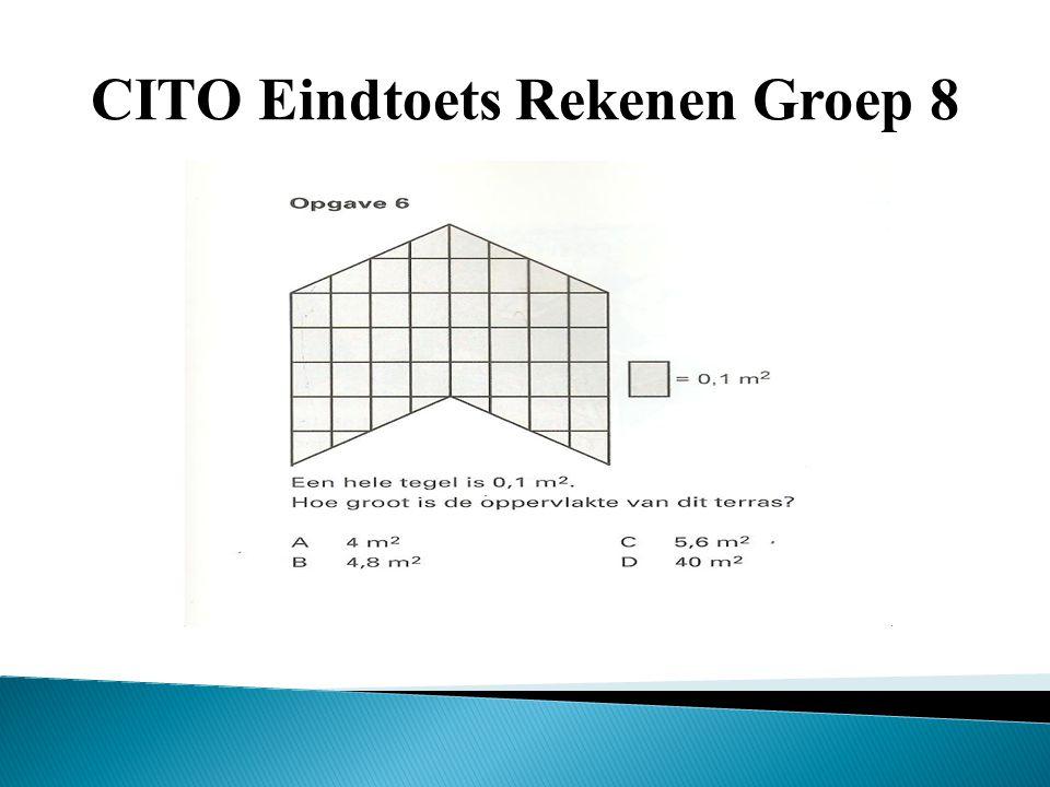 CITO Eindtoets Rekenen Groep 8