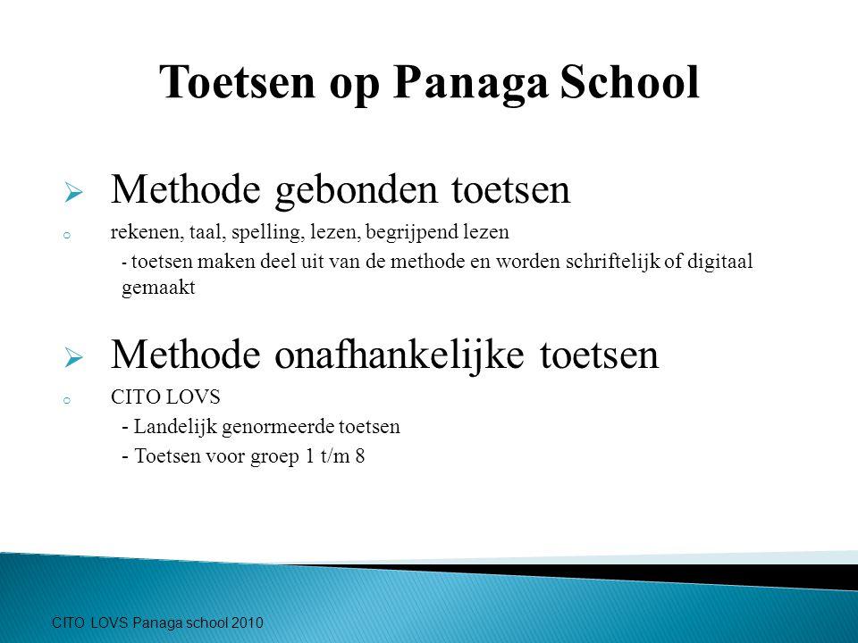 Toetsen op Panaga School