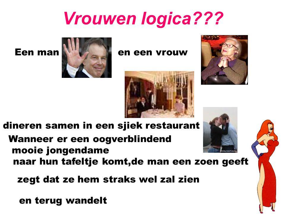 Vrouwen logica Een man en een vrouw