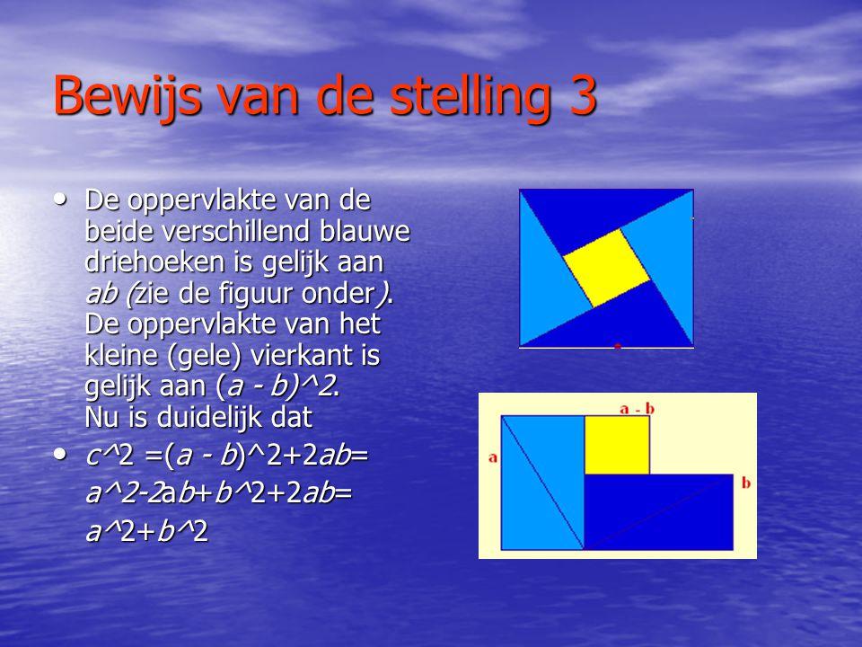 Bewijs van de stelling 3