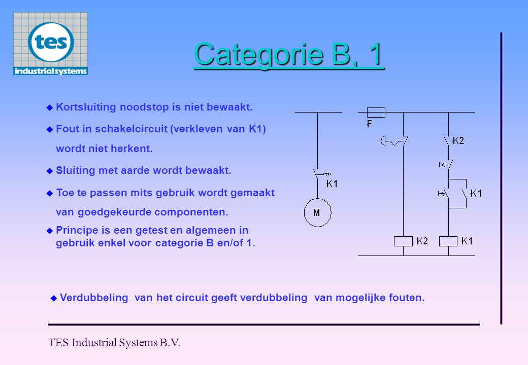 Categorie B, 1 TES Industrial Systems B.V.