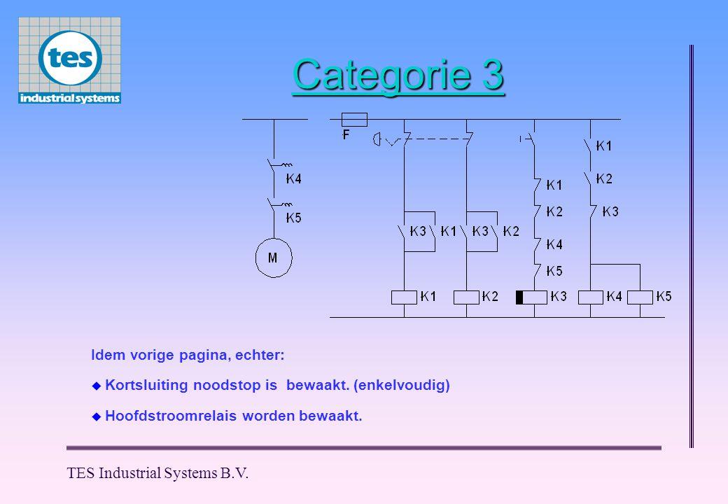 Categorie 3 TES Industrial Systems B.V. Idem vorige pagina, echter: