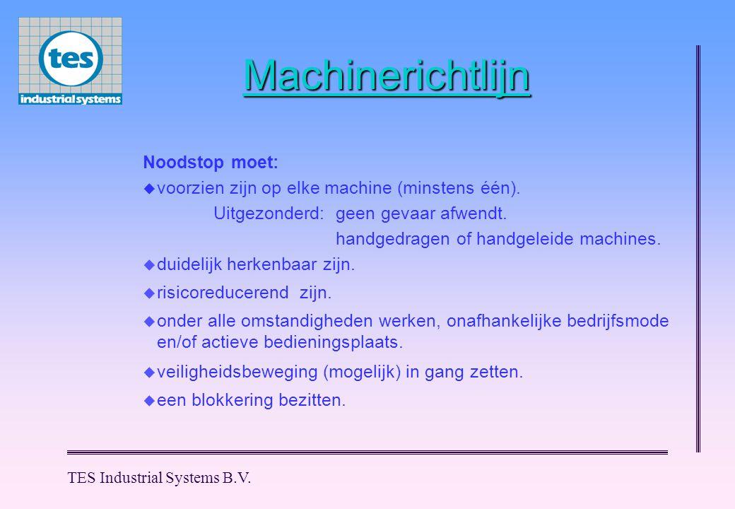 Machinerichtlijn Noodstop moet: