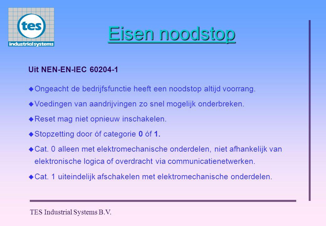 Eisen noodstop Uit NEN-EN-IEC 60204-1