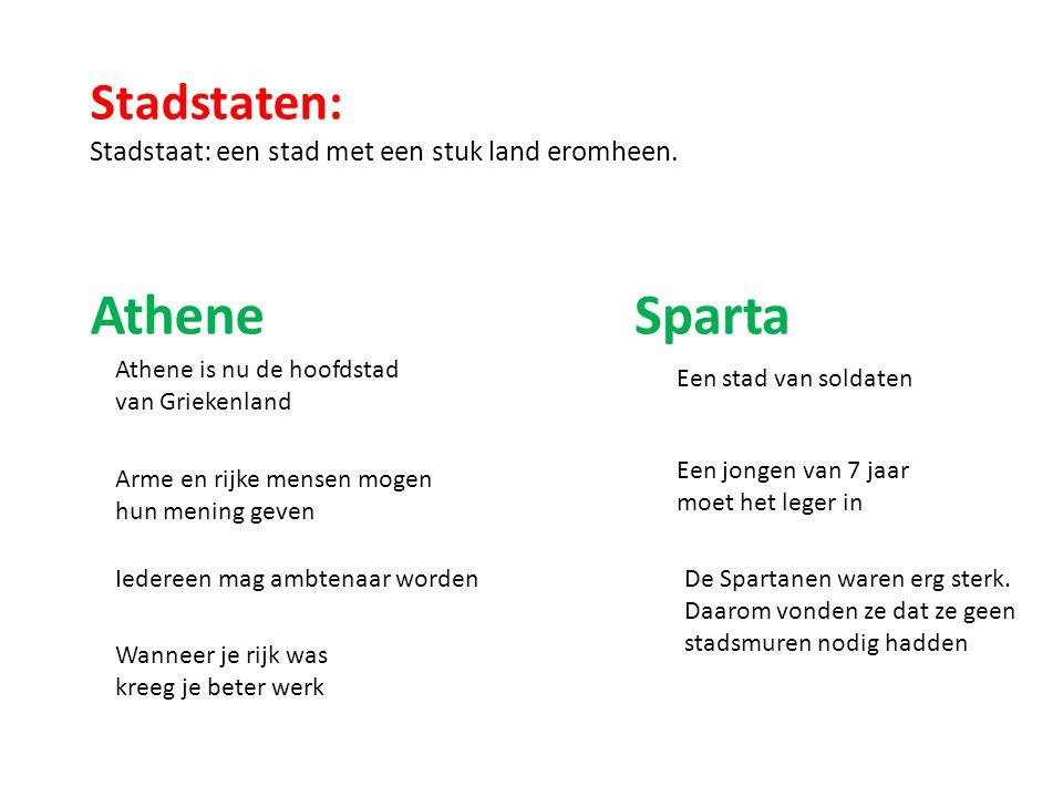 Athene Sparta Stadstaten: