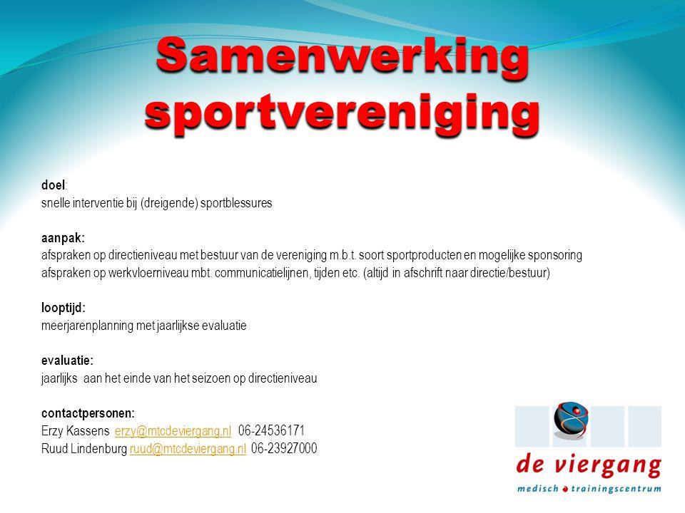 Samenwerking sportvereniging