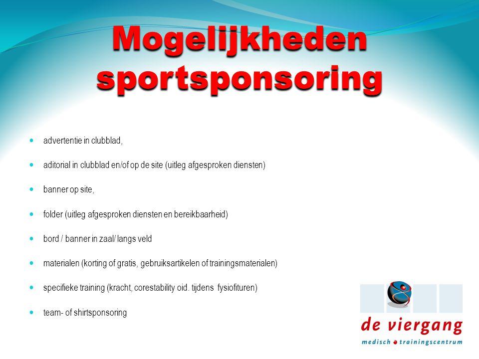 Mogelijkheden sportsponsoring