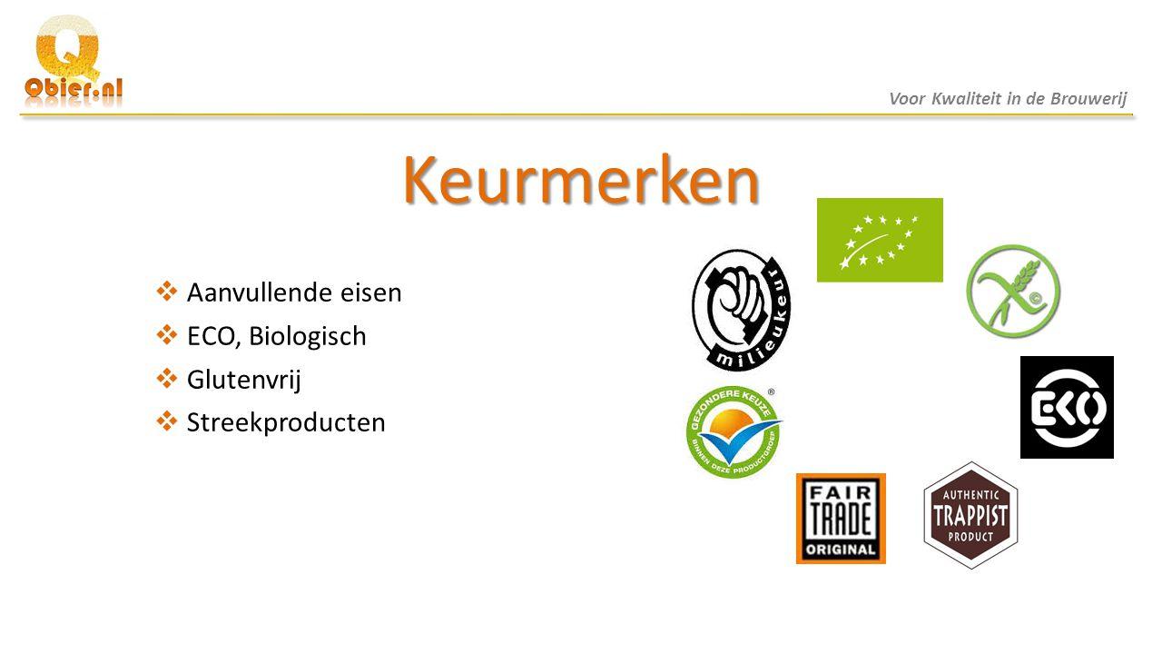 Keurmerken Aanvullende eisen ECO, Biologisch Glutenvrij