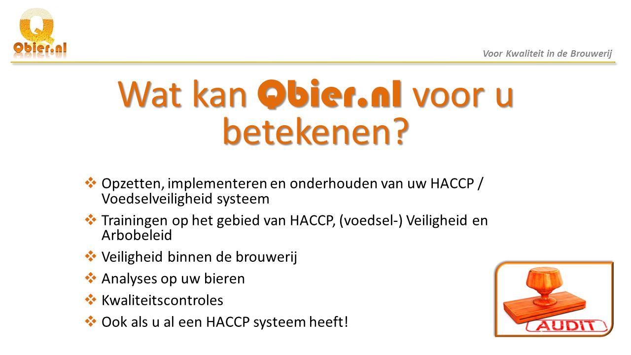 Wat kan Qbier.nl voor u betekenen