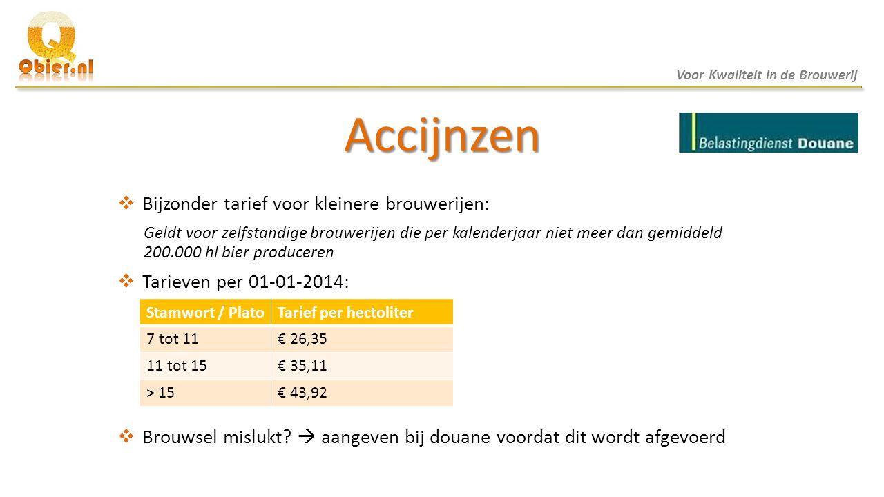Accijnzen Bijzonder tarief voor kleinere brouwerijen:
