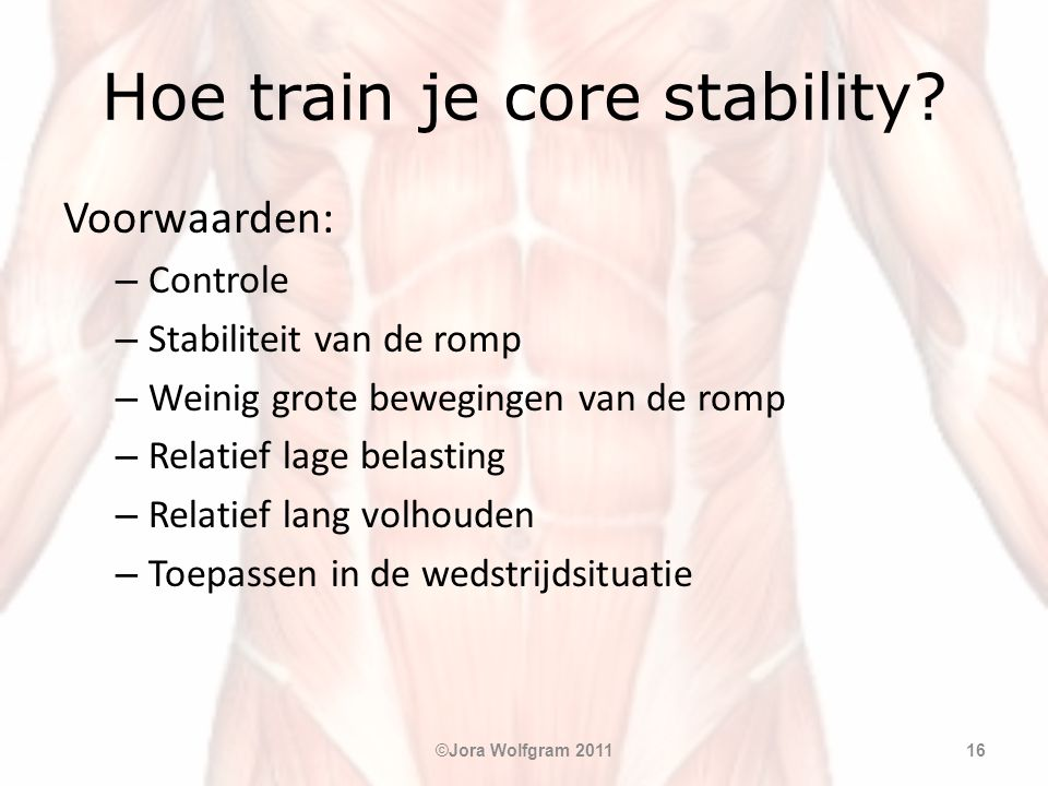 Hoe train je core stability