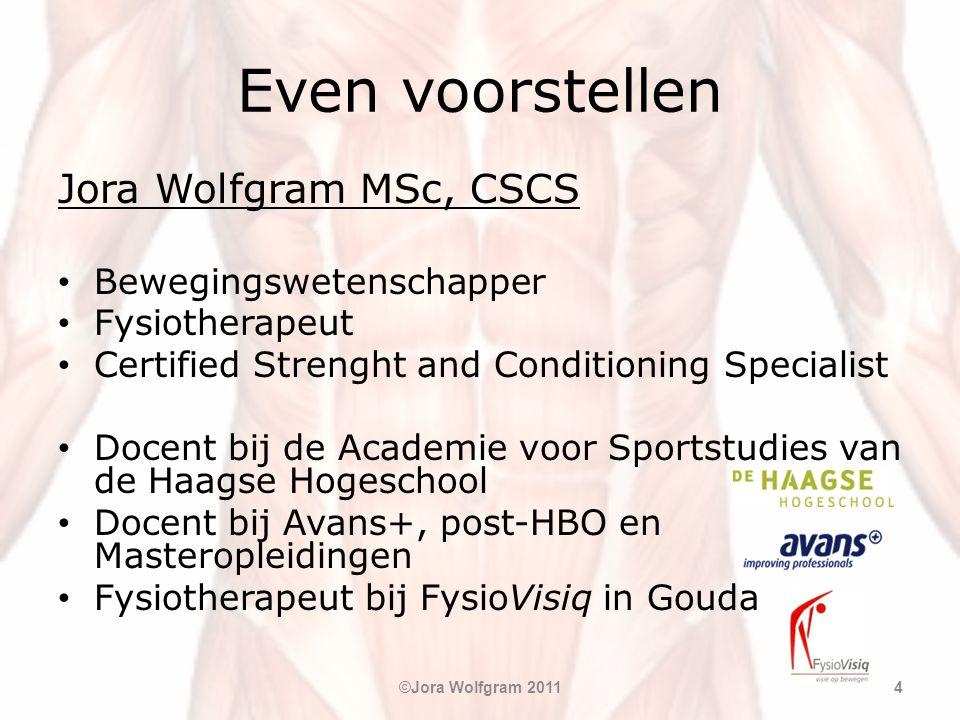 Even voorstellen Jora Wolfgram MSc, CSCS Bewegingswetenschapper