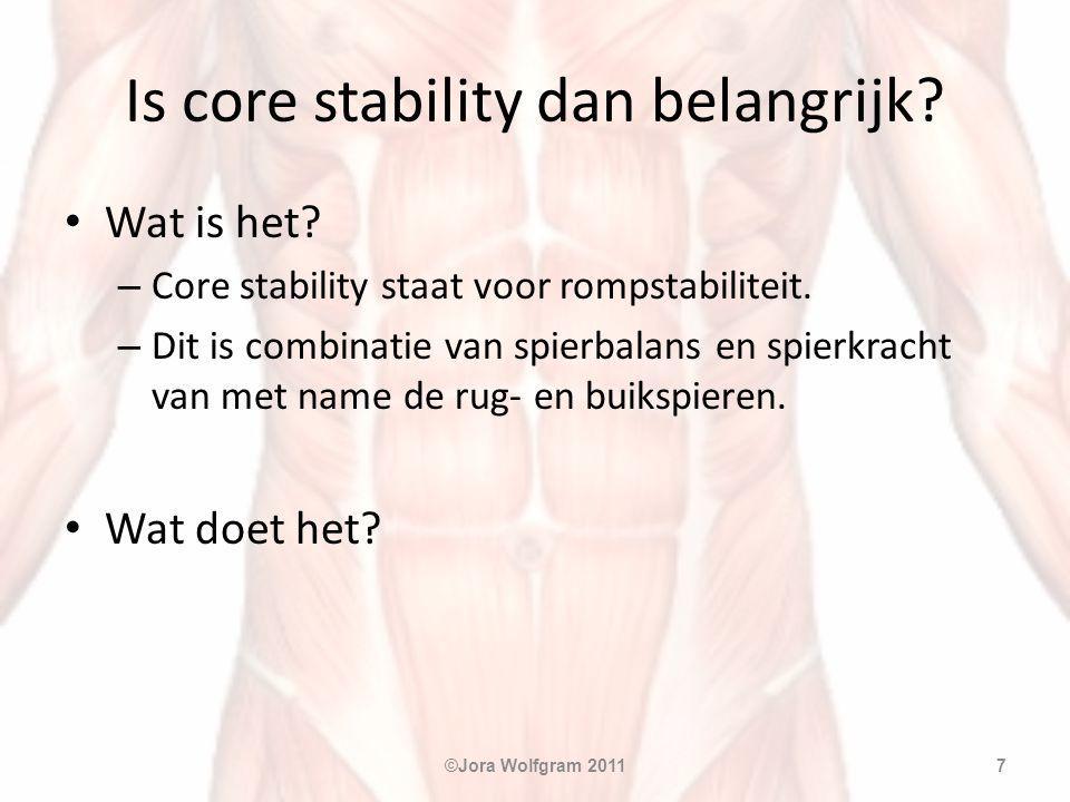 Is core stability dan belangrijk