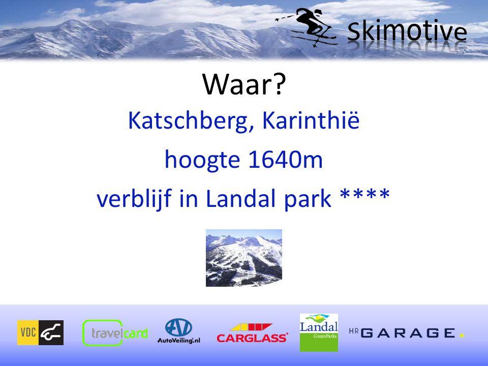 Katschberg, Karinthië hoogte 1640m verblijf in Landal park ****