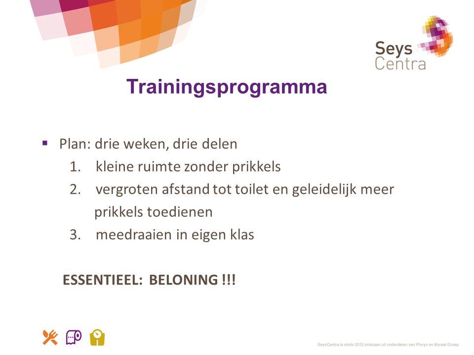 Trainingsprogramma Plan: drie weken, drie delen