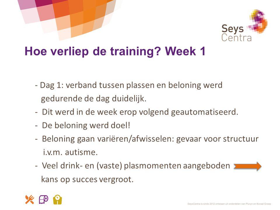 Hoe verliep de training Week 1