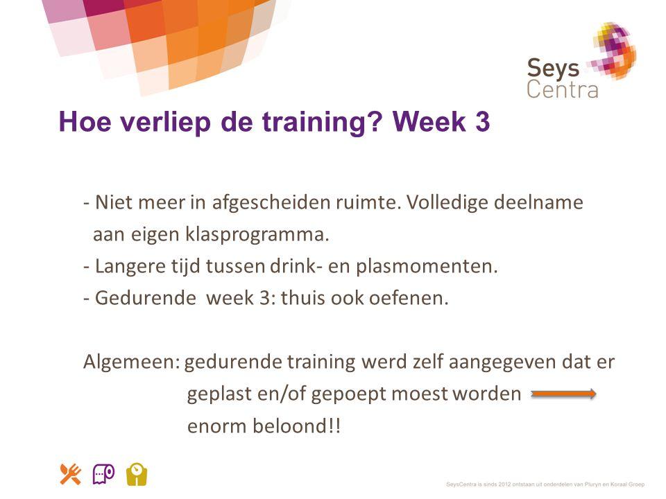 Hoe verliep de training Week 3