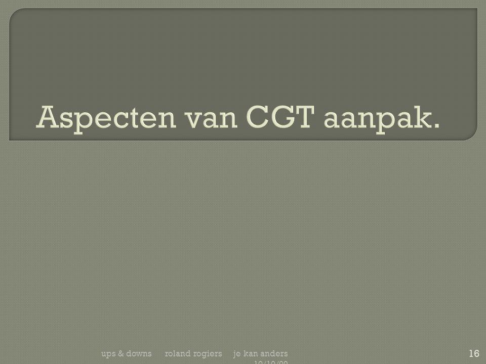 Aspecten van CGT aanpak.