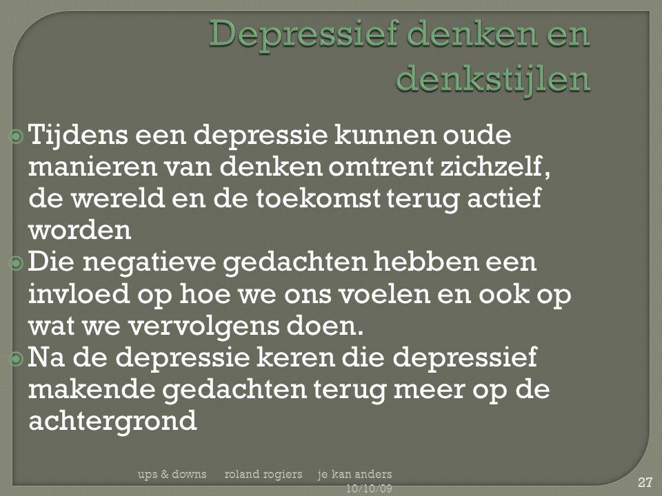Depressief denken en denkstijlen