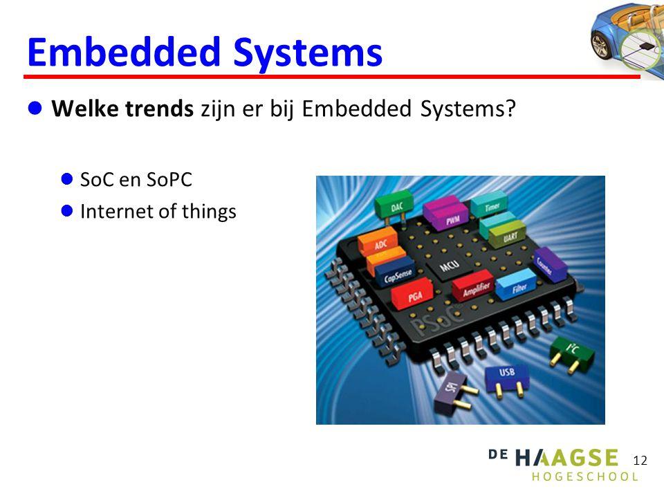 Embedded Systems Welke problemen zijn er bij Embedded Systems