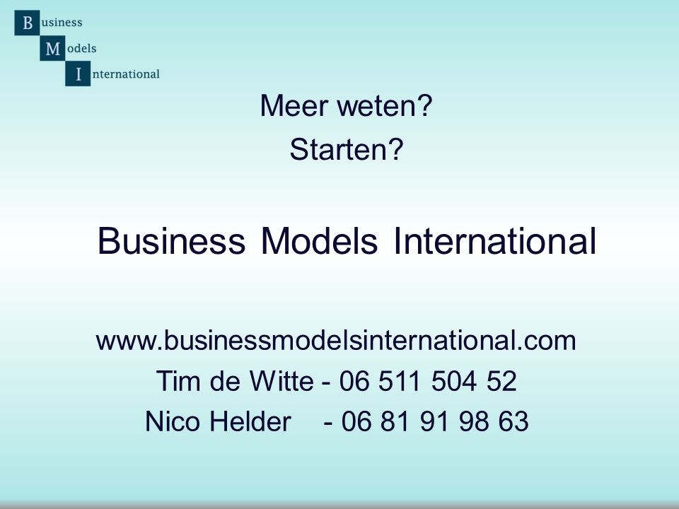 Business Models International