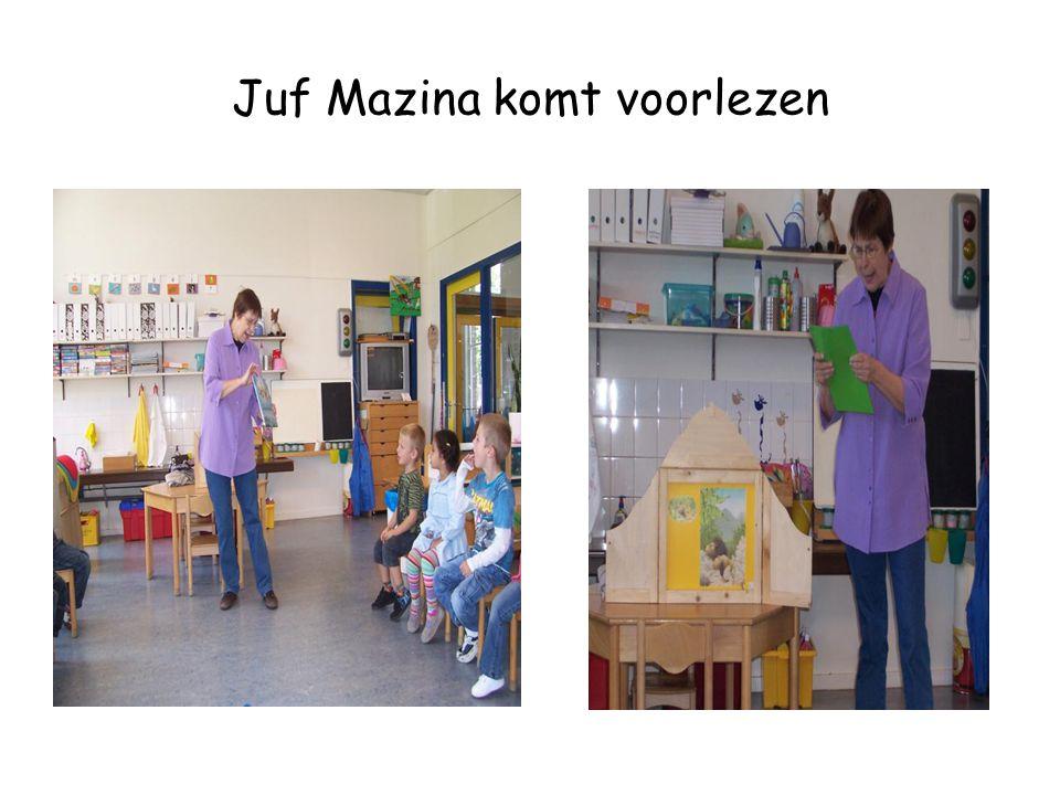 Juf Mazina komt voorlezen