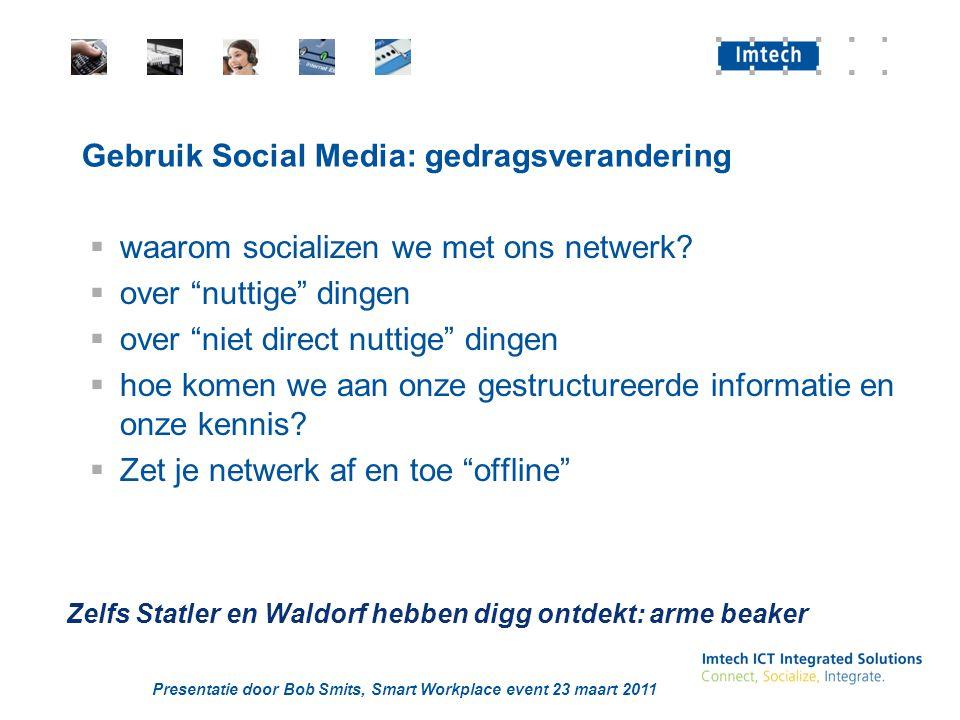 Gebruik Social Media: gedragsverandering