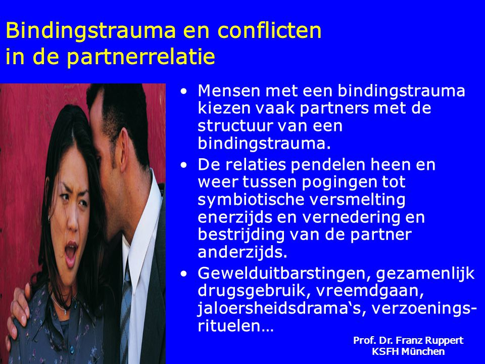 Bindingstrauma en conflicten in de partnerrelatie