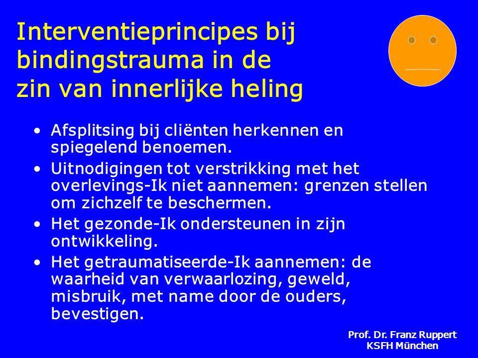 Interventieprincipes bij bindingstrauma in de zin van innerlijke heling