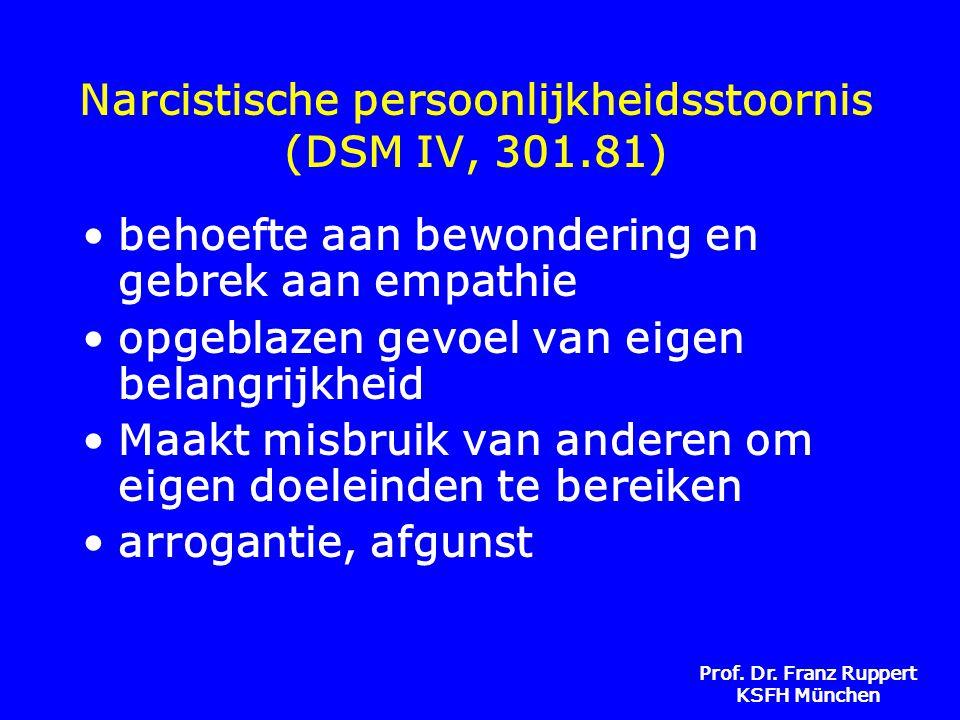 Narcistische persoonlijkheidsstoornis (DSM IV, 301.81)