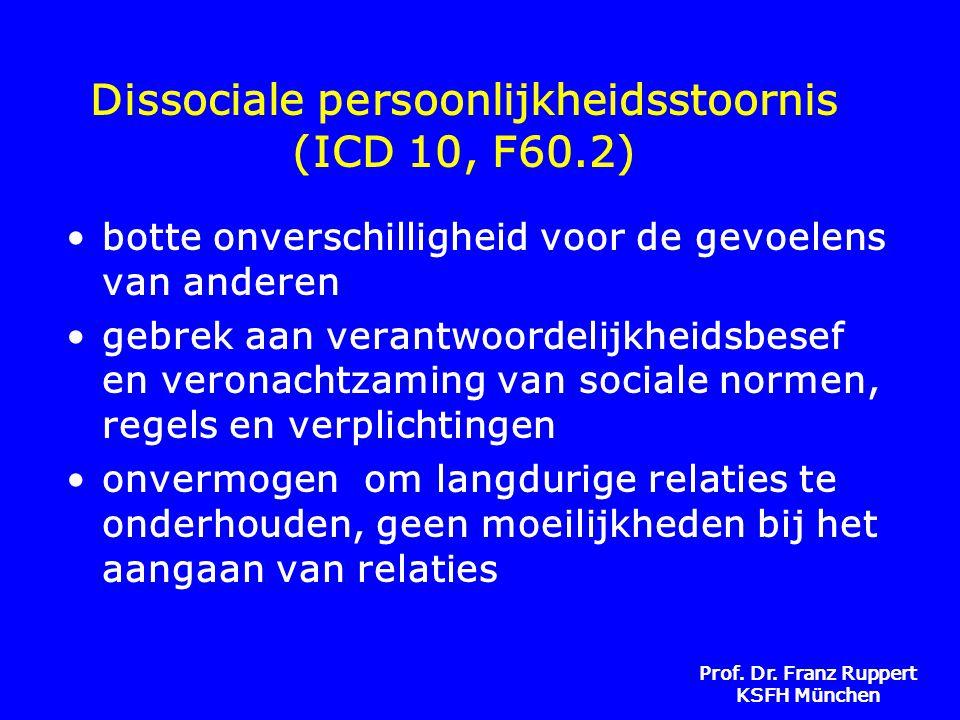 Dissociale persoonlijkheidsstoornis (ICD 10, F60.2)