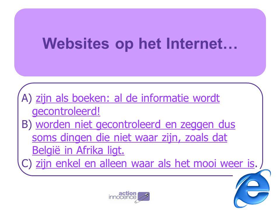 Websites op het Internet…