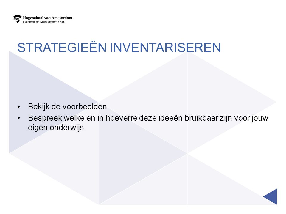 Strategieën inventariseren