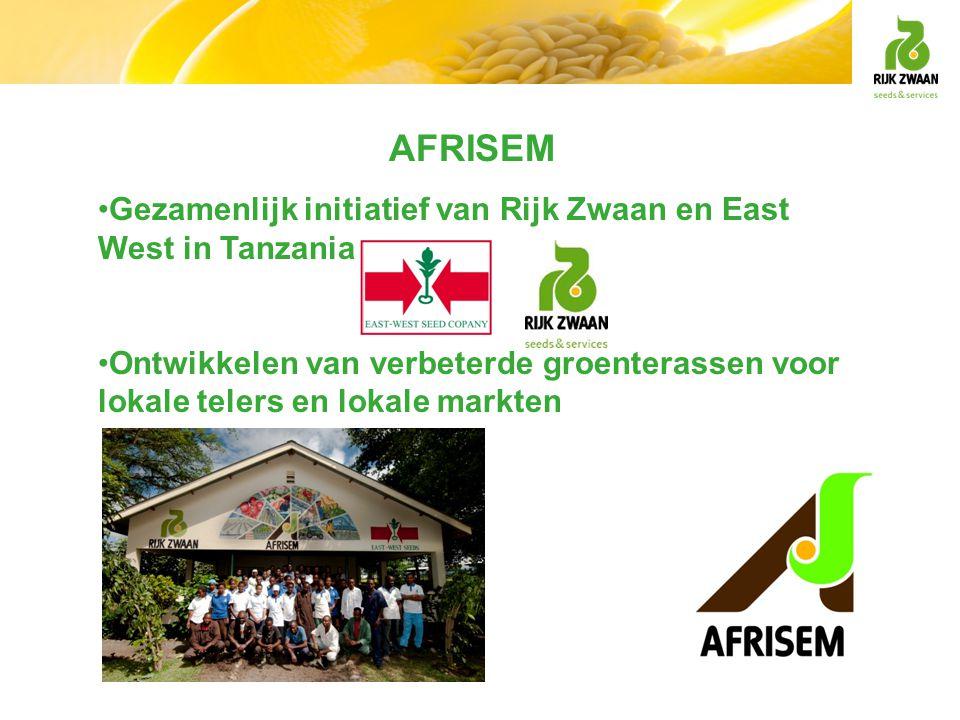AFRISEM Gezamenlijk initiatief van Rijk Zwaan en East West in Tanzania