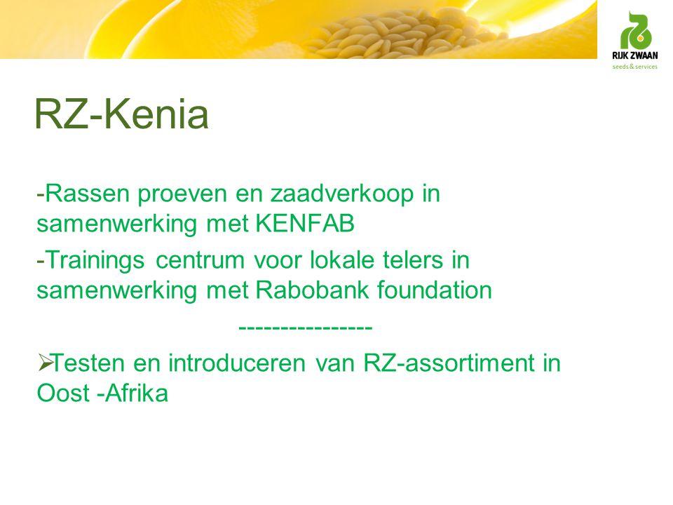 RZ-Kenia Rassen proeven en zaadverkoop in samenwerking met KENFAB