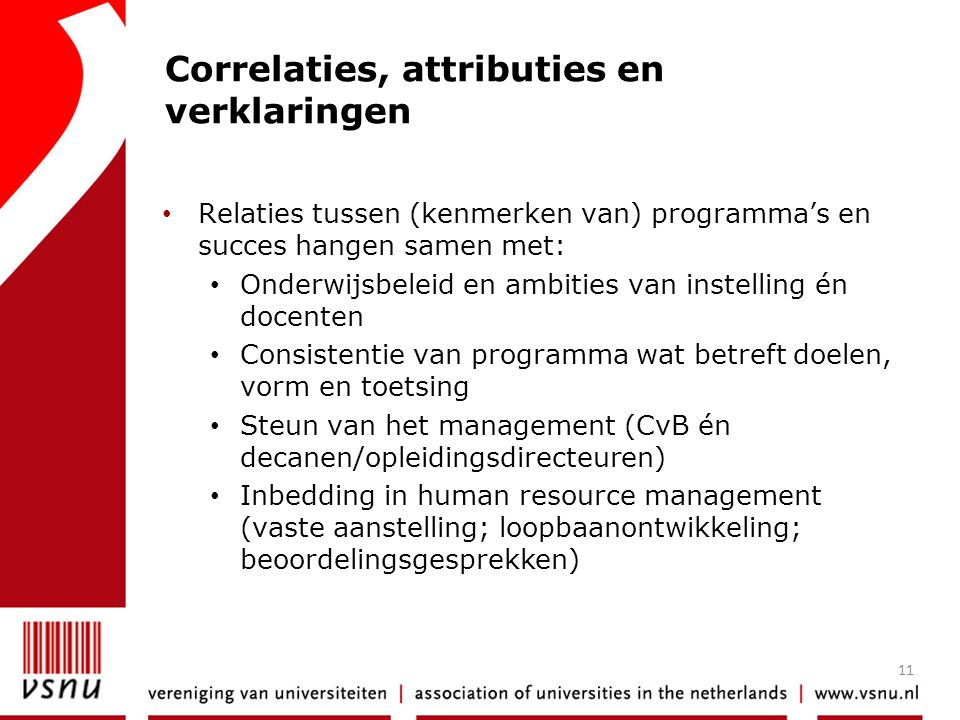 Correlaties, attributies en verklaringen