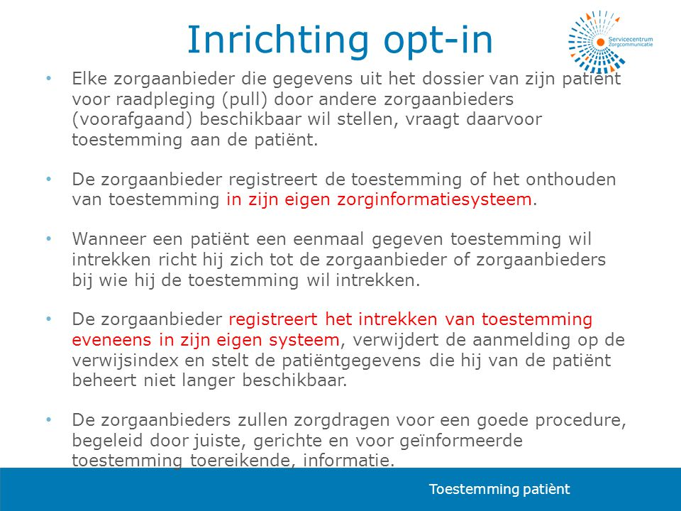 Inrichting opt-in