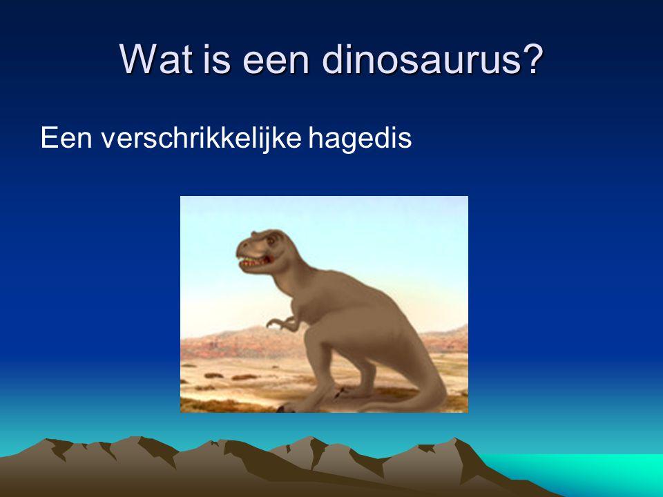 Wat is een dinosaurus Een verschrikkelijke hagedis