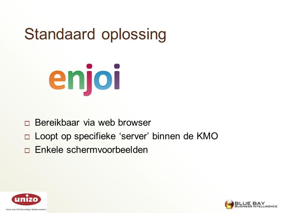 Standaard oplossing Bereikbaar via web browser