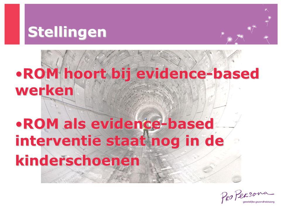 Stellingen ROM hoort bij evidence-based werken.