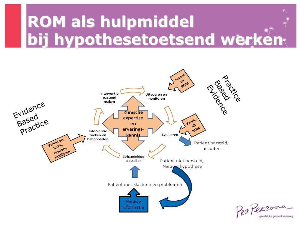 ROM als hulpmiddel bij hypothesetoetsend werken