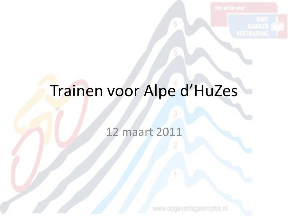 Trainen voor Alpe d'HuZes