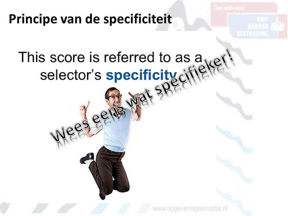 Principe van de specificiteit