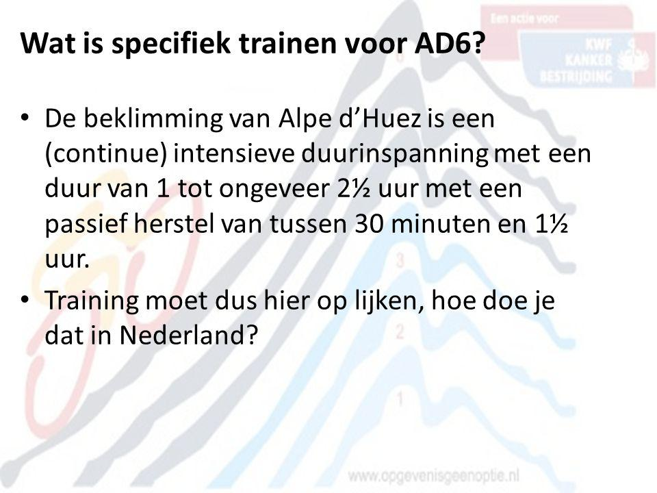 Wat is specifiek trainen voor AD6