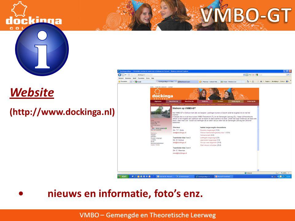 VMBO-GT Website • nieuws en informatie, foto's enz.